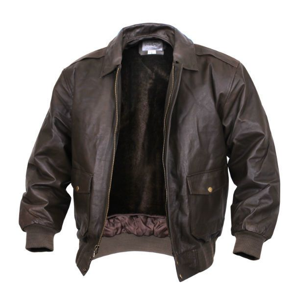 Classic A-2 Leather Flight Jacket - Brown