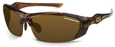 Crossfire TL11 Safety Glasses with Crystal Brown Frame and Gold Mirror Lens