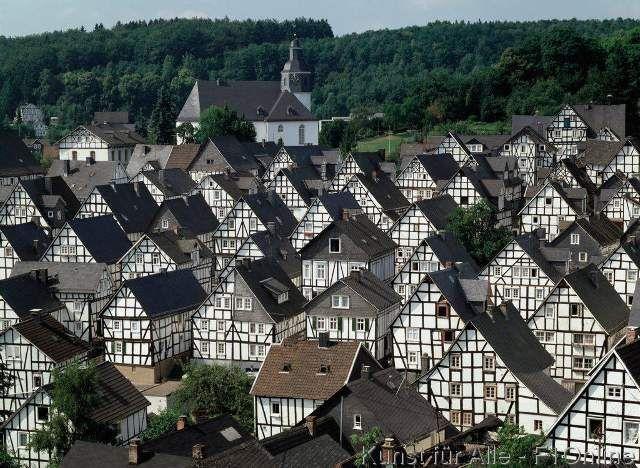 Alter Flecken Copyright Werner OTTO, Half-Timbered houses, Siegerland, Sauerland