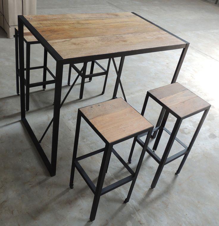 tabouret de bar industriel google sweet home diy pinterest tabourets de bar. Black Bedroom Furniture Sets. Home Design Ideas