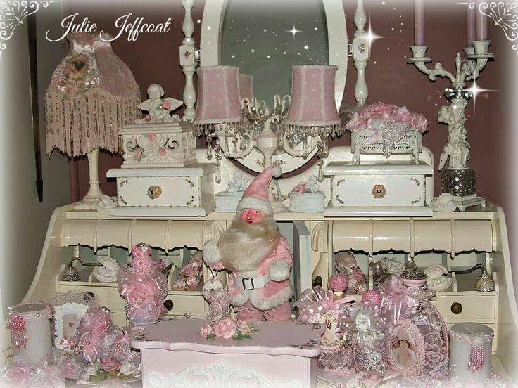 One Of My Pink Christmas Harold Gale Santau0027s   MrPink GlamourPants On My  French Shabby Desk. Pink Christmas DecorationsChristmas Decorating  IdeasChristmas ...