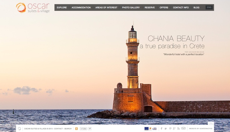 The Oscar Suites & Village hotel in Chania Crete chose our Web Agency to design & develop for them a new and fresh complete online presence, ranging from a Desktop website, to a Mobile site, to a Hotel Blog. Take a look at the website by visiting the link www.oscarvillage.com and let us know what you think! You can read more about this project at our website on the Oscar Suites & Village case study page at http://www.x2interactive.gr/oscar-suites-village.