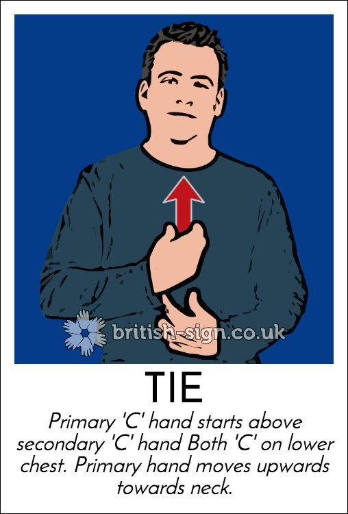 Today's #BritishSignLanguage sign is: TIE (necktie) #TieMonth