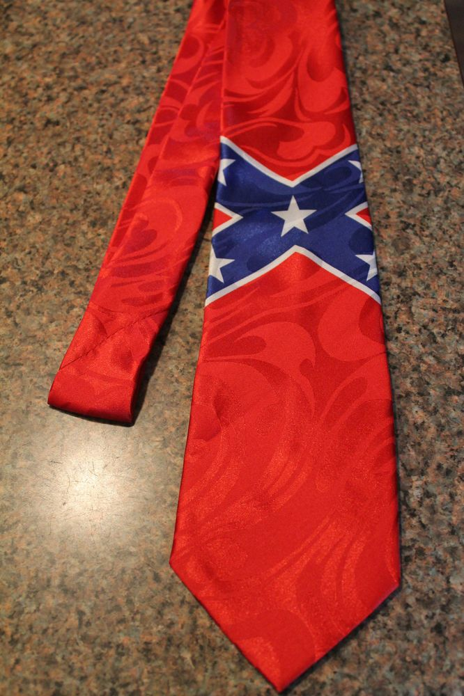 The confederate flag on a brand new 100 polyester neck for Rebel flag wedding dresses
