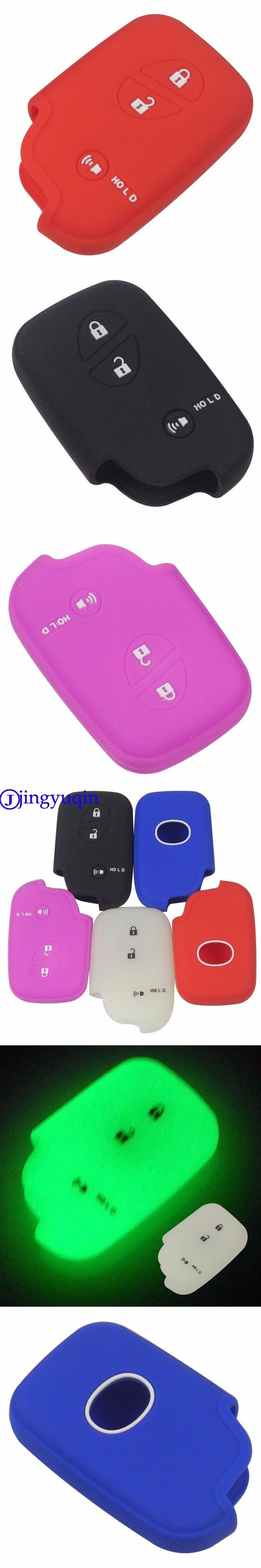 jingyuqin Remote 3 Buttons Silicone Rubber Key Fob Cover Case For Lexus CT200h ES 300h IS250 GX400 RX270 RX450h RX350 LX570