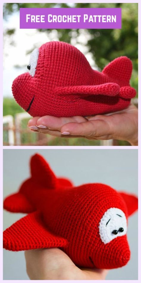 Crochet Airplane Amigurumi Free Patterns - crochet Carton Airplane Free Pattern