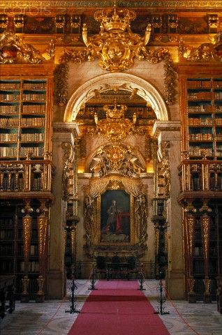 Joanine Library at Coimbra University Portugal