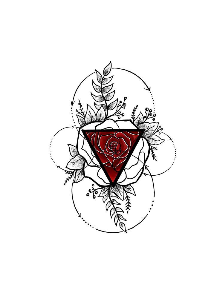 Best 25 Geometric Rose Tattoo Ideas On Pinterest Triangle Tattoo Pink Tattoos And