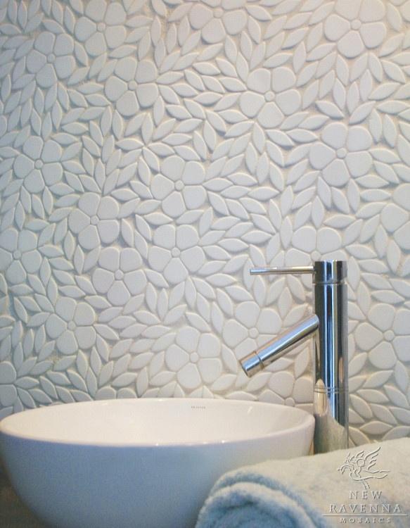 mosaic backsplashes and floors from New Ravenna Mosiacs