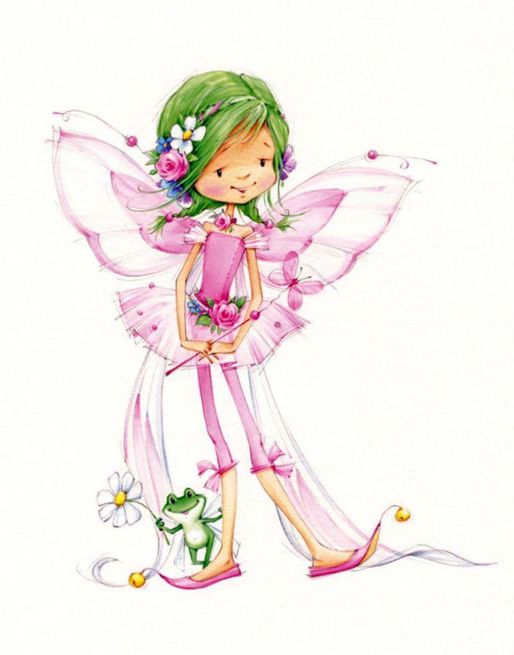 Лесная фея картинки для детей нарисованные цветные, скрапбукинг для
