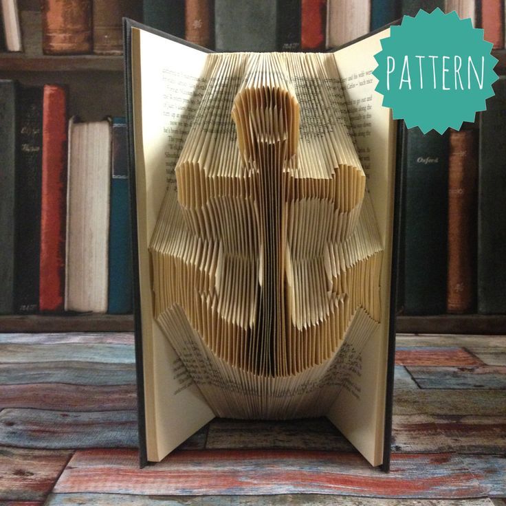Folded Book Art Anchor Pattern & tutorial, gift, decoration