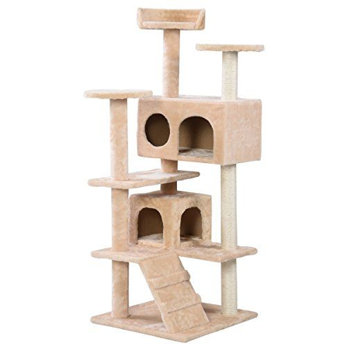 """Cat Tree Tower Condo Furniture Scratch Post Kitty Pet House Play House Beige 52"""" ** You can find more details by visiting the image link."""