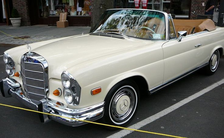 ... a vintage Mercedes convertible. Butter creme yellow, please.