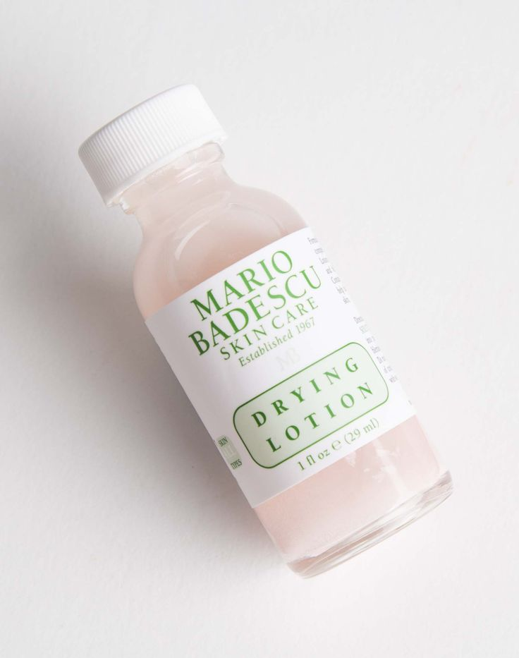Mario Badescu: Drying Lotion. Mario Badescu's best seller, Drying Lotion is an excellent spot treatment made with a blend of Calamine and Salicylic Acid to clear up and soothe unsightly whiteheads overnight.