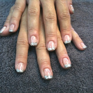 OPI Gel Color Passion with loose silver glitter.Silver Glitter, Loose Silver, Gel Colors, Nails Ideas, Colors Passion, Opi Gelcolor