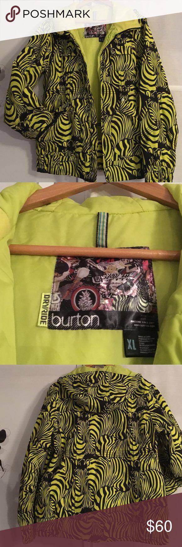 Burton Boarding Jacket Like new Burton boarding/ski jacket.. zebra print, pockets galore! My daughter moved south😁 Worn very little❤️ Burton Jackets & Coats