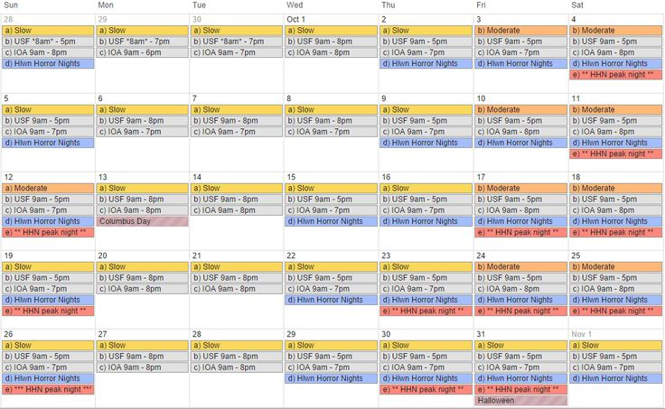 Weve Updated Our Free 12 Month Universal Orlando Crowd Calendar