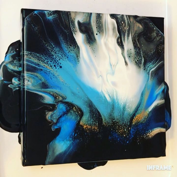Fluid Acrylic Painting Video – Dutch Pour