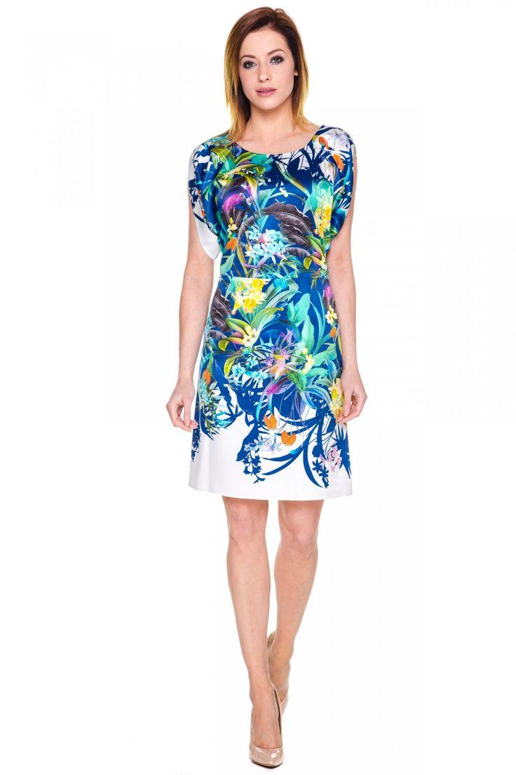 Sukienka w kwiatowe wzory - L'ame de Femme