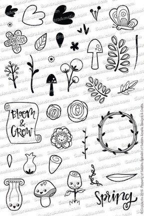 Blooms & Shrooms - Planner Stamp Set