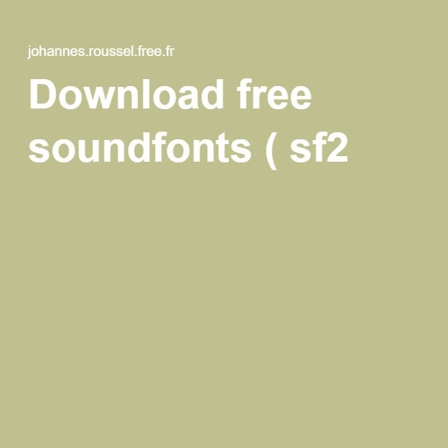 Download free soundfonts ( sf2 ) | LMMS | Music, Free