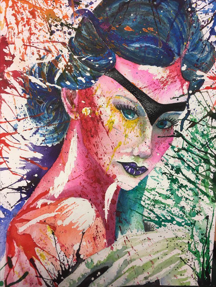Watercolor, Swedich art, Ladies of Collor
