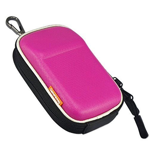 First2savvv BDX2002 pink premium quality hard camera case pouch bag for Nikon COOLPIX A A900 S9900S S9900 FUJIFILM X70 Canon PowerShot SX710 HS Caiso EX10ZR3600ZR3500ZR2000 ** Want additional info? Click on the image.