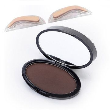 Eyebrow Stamps Kit Pigments Black Brown Brows Mineral Powder Palette Eyebrows Makeup 3 Colors