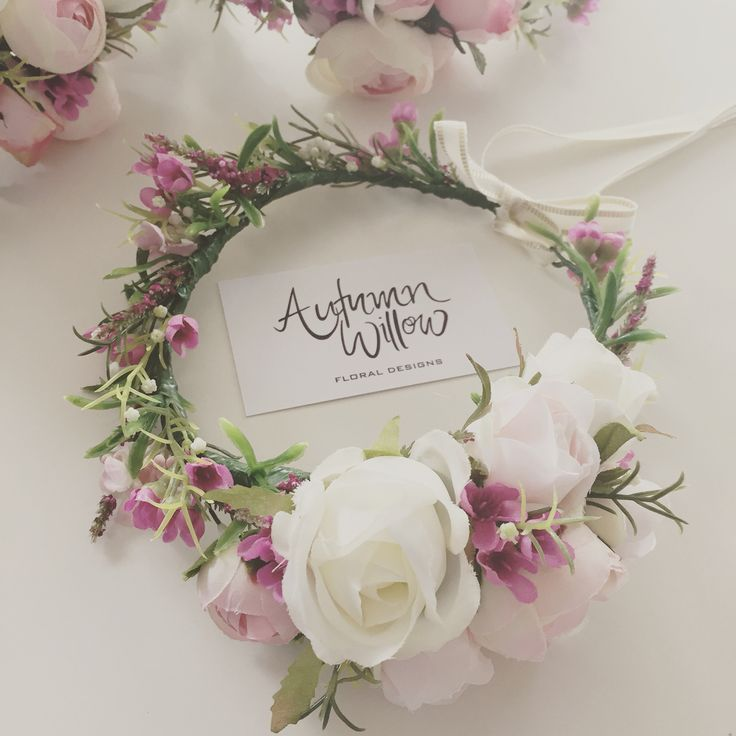 Our artificial flower crown will be available from our website soon.
