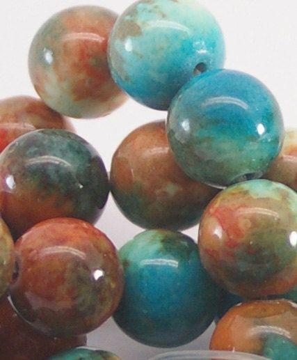 FOSSIELE steen 1 strand 10mm halfedelstenen door JanePossumBari