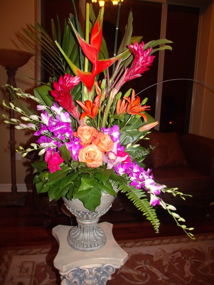 Best 25 tropical floral arrangements ideas on pinterest Floral creations