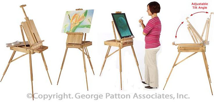 Studio Easel With Tray - WoodWorking Projects & Plans