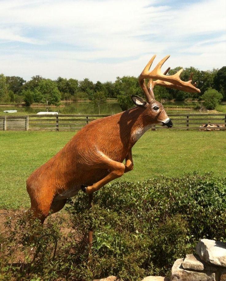 The buck stops here beneaththebarkchainsawcarvings