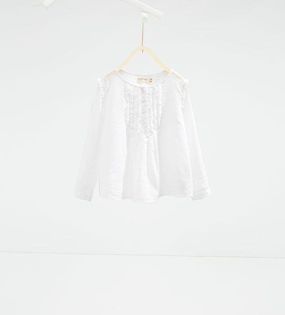 ZARA - BØRN - Skjorte med bryststykke