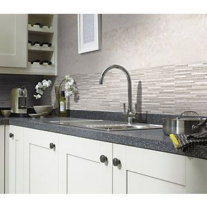 Wickes Battersea Splitface White Ceramic Wall Tile 298X498Mm Gorgeous Kitchen Wall Tile Inspiration Design