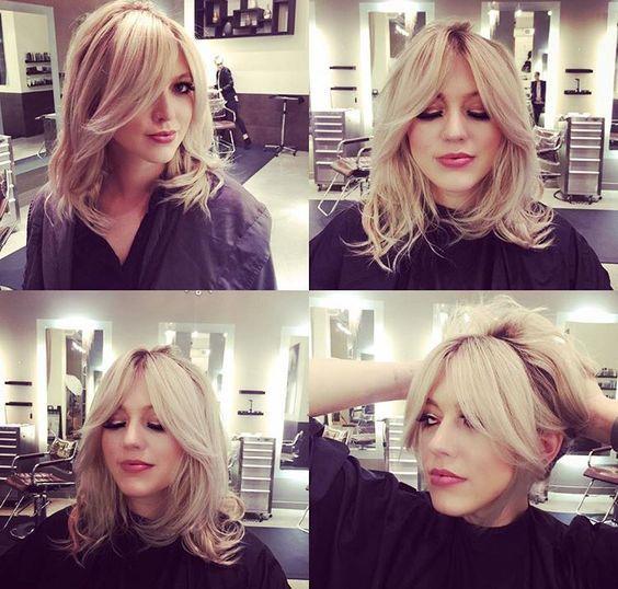 32+ Cute Medium Hairstyles with Bangs for Ladies