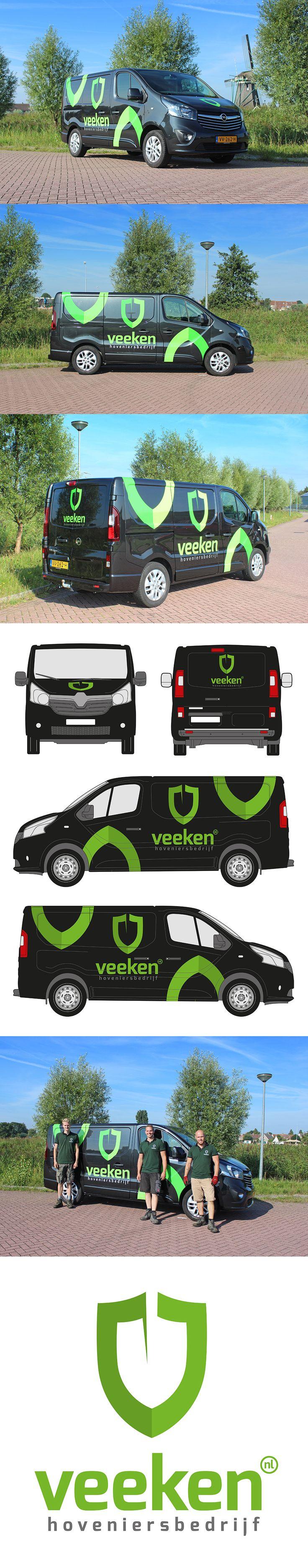 Belettering design voor Hoveniersbedrijf Veeken