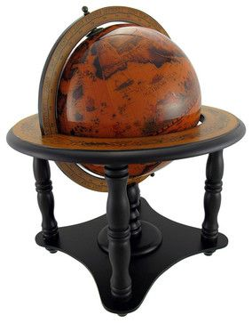 Gorgeous 8 Inch Diameter Old World Globe on Stand - Contemporary - Accessories And Decor - by Things2Die4