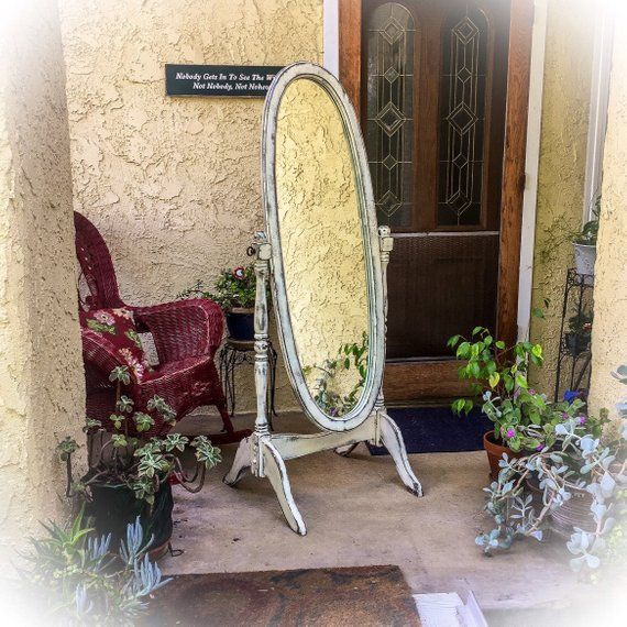 Sold Antique Dressing Mirror Shabby Chic Full Length