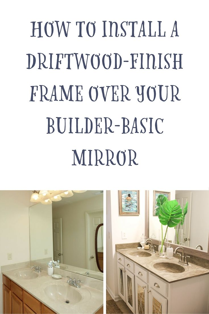 Framing A Bathroom Mirror Before And After 17 best ▷ before & after: mirror frames images on pinterest