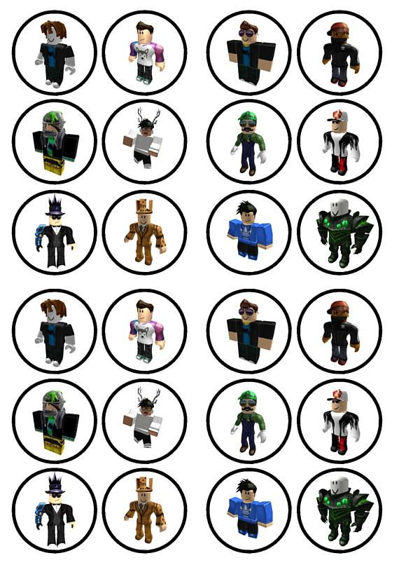 Roblox Boy Character 3 Edible Wafer Rice Paper Cake