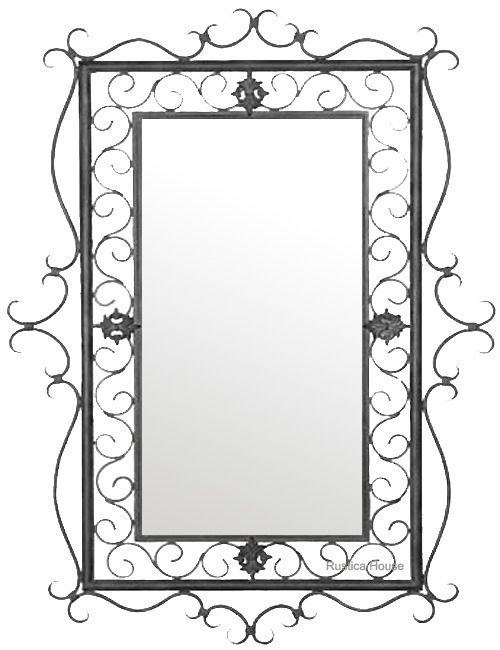 Iron Mirror 014 Decorative FramesRustic BathroomsWrought