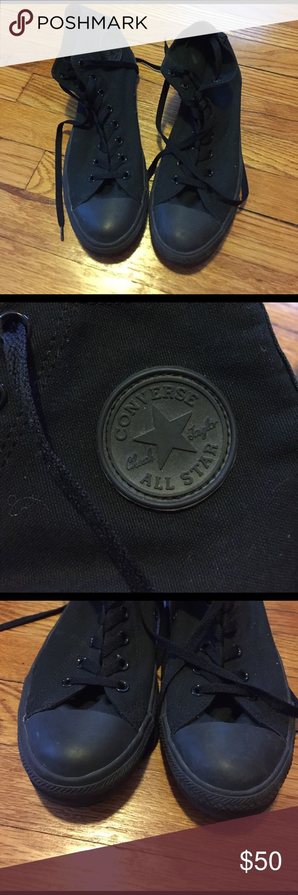 Men's Converse Chuck Taylor High Tops EUC Men's Black Converse High Top Chuck Taylor. Size 11. Only worn once or twice and no real wear except for slight scuffing in rubber by soles. No box. No trades. Converse Shoes