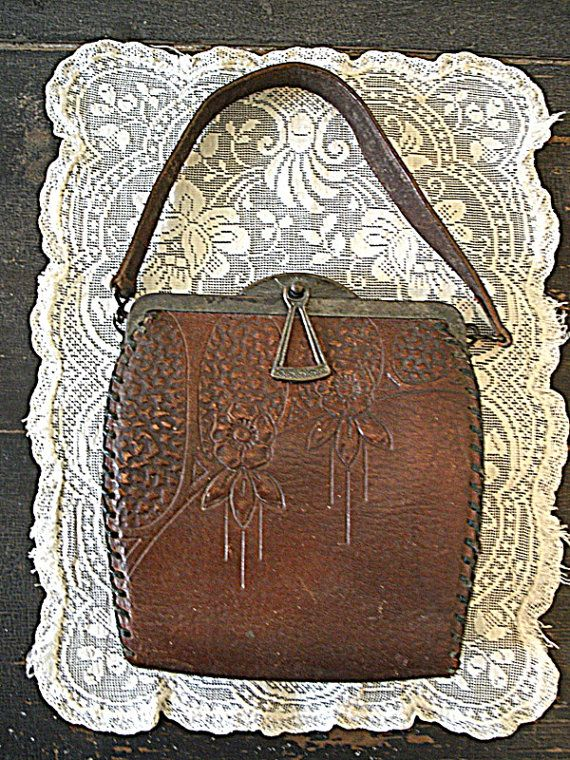 Hand -Tooled  Purse Vintage Leather Cowgirl Cool
