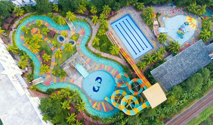 Aerial view, Cilegon Green Waterpark Landscape
