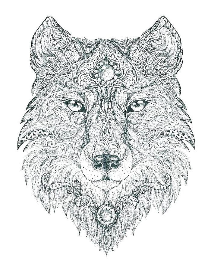Abstract Wolf Printable Coloring Pages Animal Coloring Pages Animal Coloring Books Mandala Coloring Pages