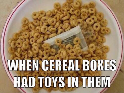 Free toys with cereal