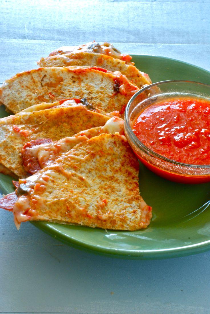 Fast weeknight meal - Pizza quesadillas