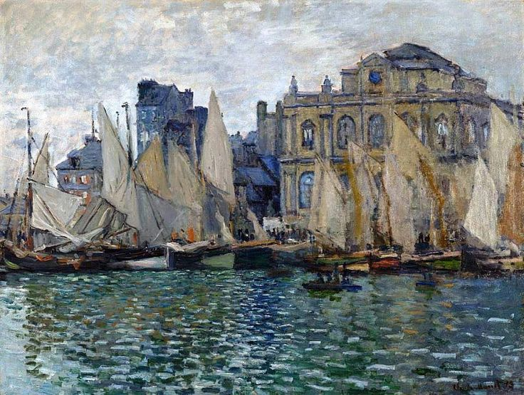 Claude Monet - The Museum at Le Havre, 1873. Oil on canvas, 75 x 100 cm. The National Gallery, London, UK