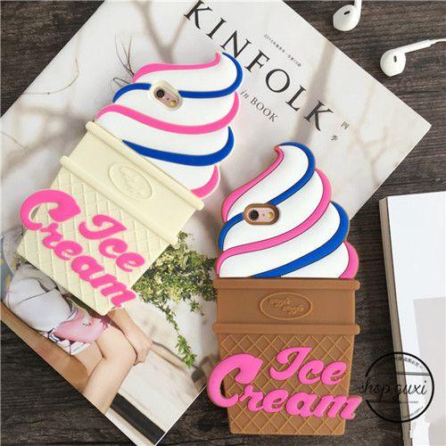 2016 Süße modische Ice Cream Silikon Handyhülle für Iphone6/6plus